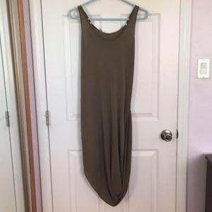 Dresses & Skirts - Draped olive dress